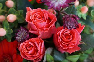 色とリどりのバラ