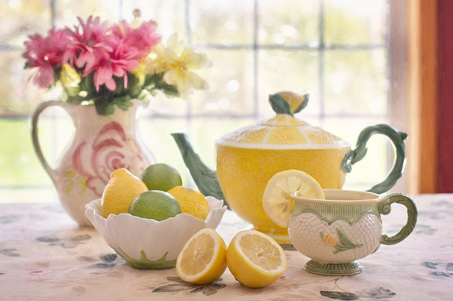 ビタミンCレモンとお茶