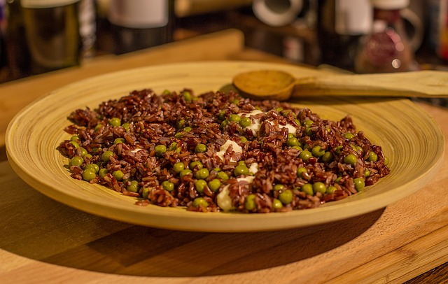 玄米と赤米と豆