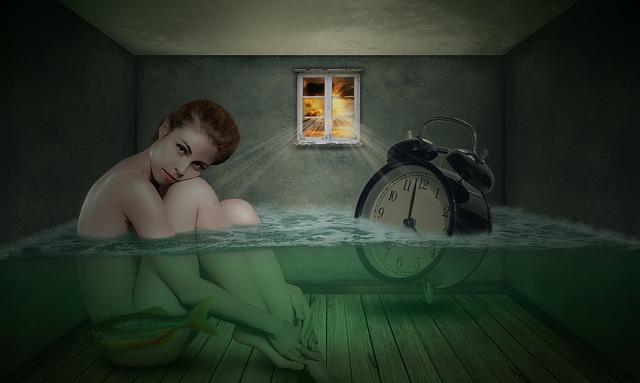 不眠のための入浴